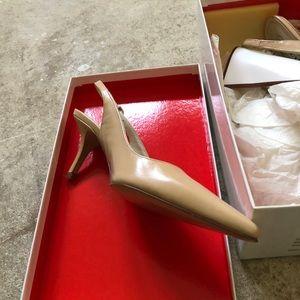 Coach camel pump. Brand new. In box. 3 inch heel.